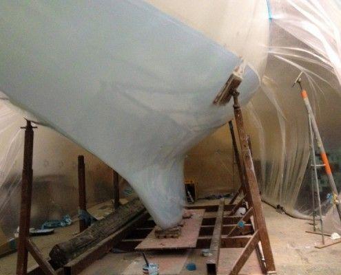 Desty Marine osmosis treatment applied