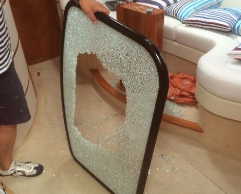 Desty Marine shattered table