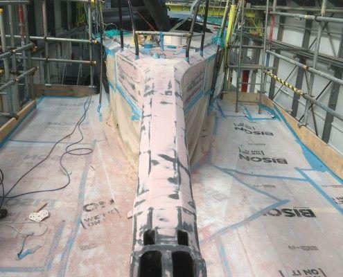 Desty Marine bow sprit repair